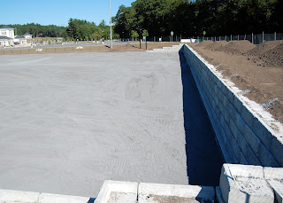 turf field retaining wall