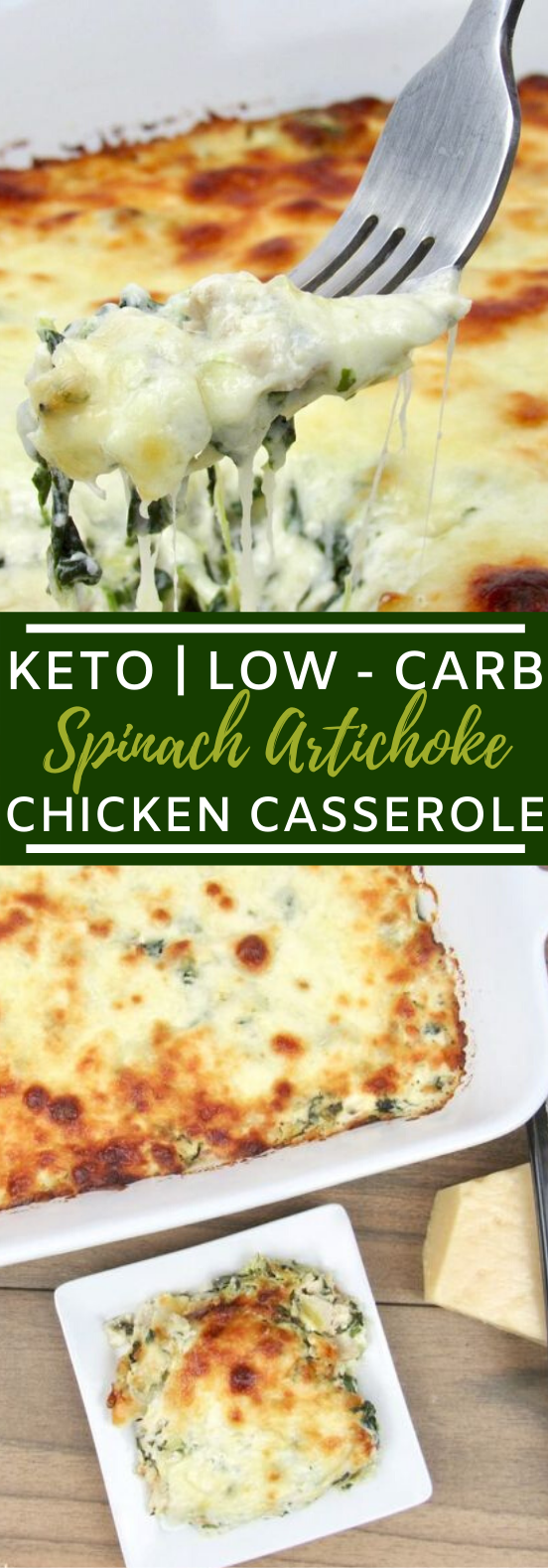 Spinach Artichoke Chicken Casserole – Keto and Low Carb #lowcarb #dinner #keto #diet #casserole