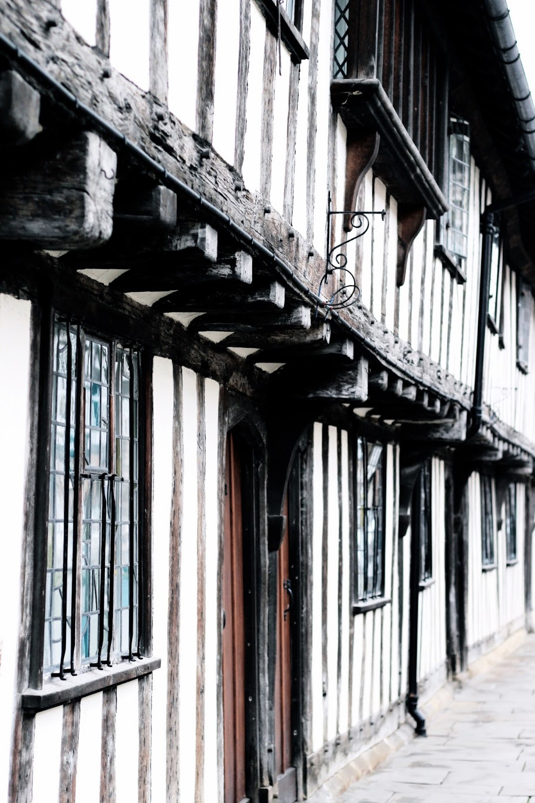 Famous black and white buildings in Stratford-upon-Avon