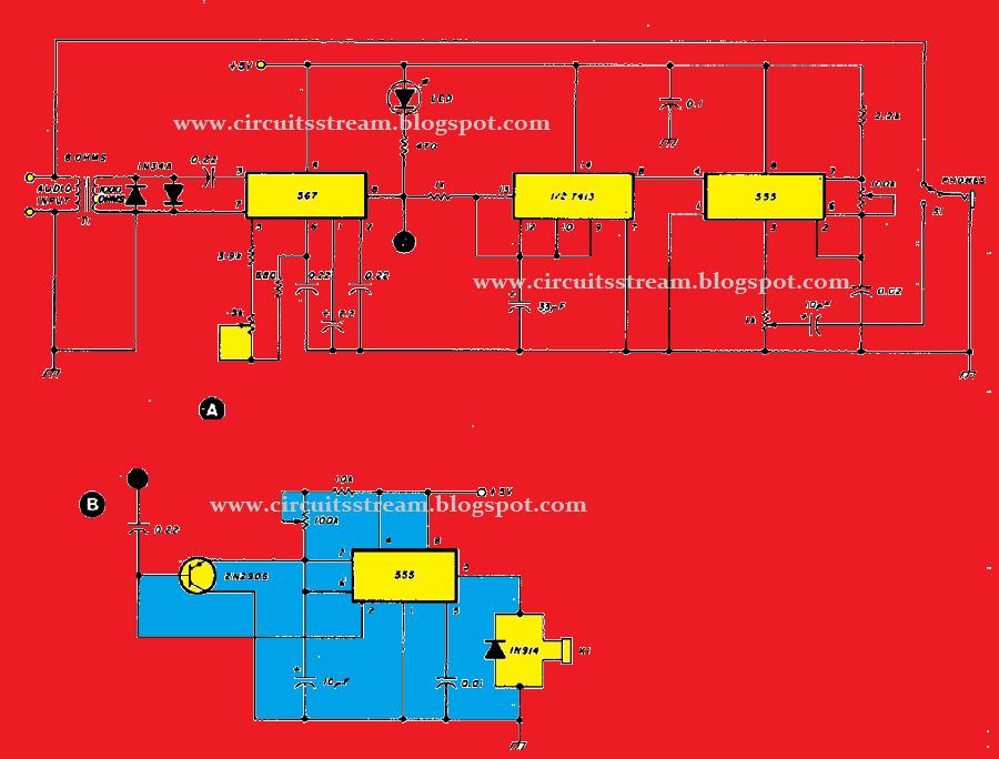 Electronic Door Buzzer Circuit Schematic Using Op Amp