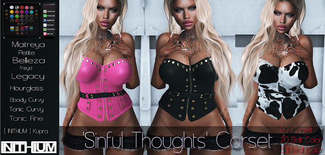 [TOXIC BISH] 'Sinful Thoughts' Corset