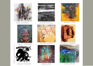 नौ कलाकारों के समूह द्वारा तीन दिवसीय कला प्रदर्शनी का आयोजन | #NayaSaberaNetwork