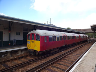 Tube train on the Isle of Wight
