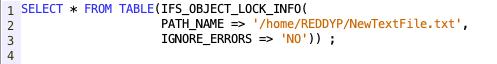 IFS Objects locks from SQL - IBM i