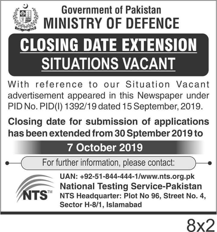 Jobs in Ministry off defense 2019