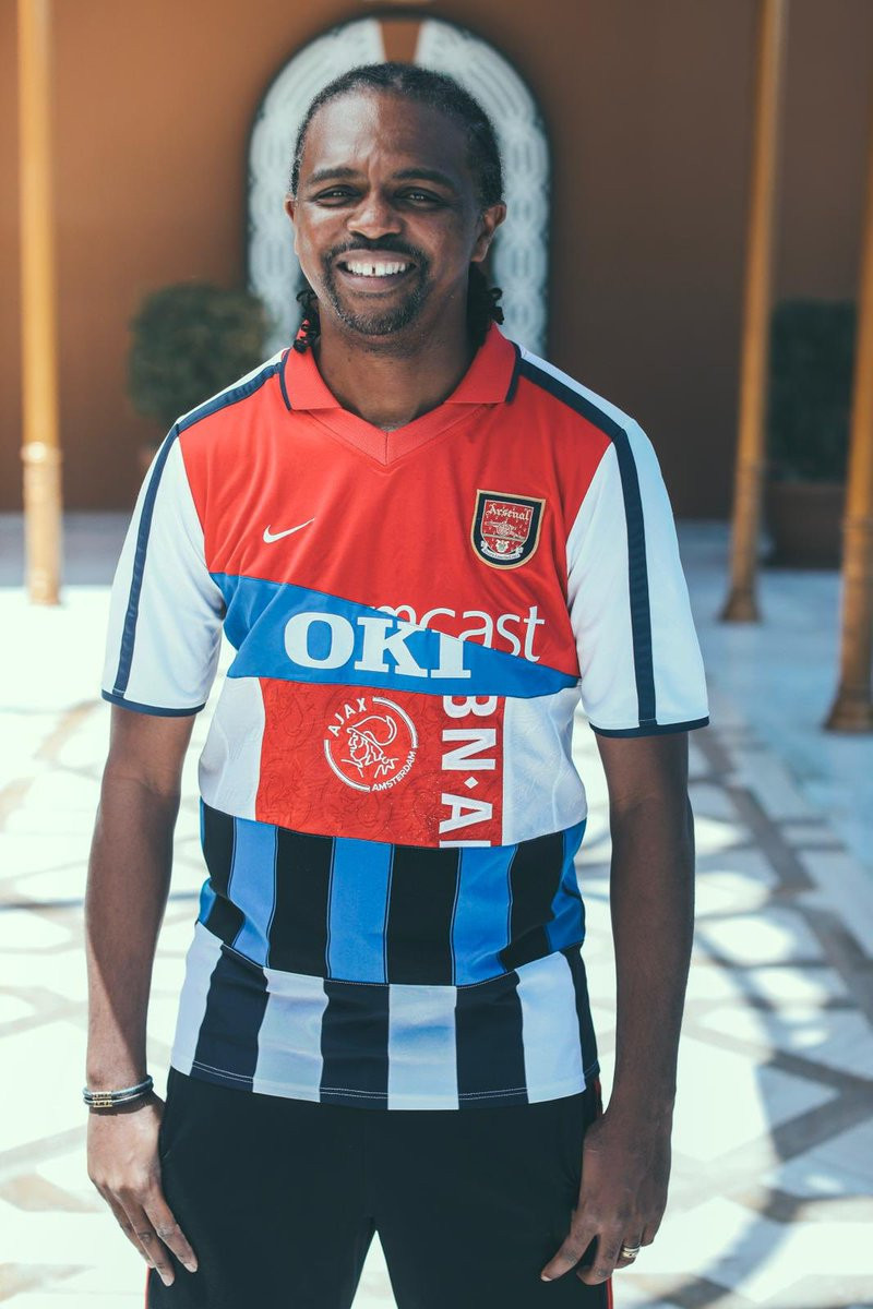 Nwankwo Kanu shows off special jersey featuring all the clubs he played for (See full Photos)