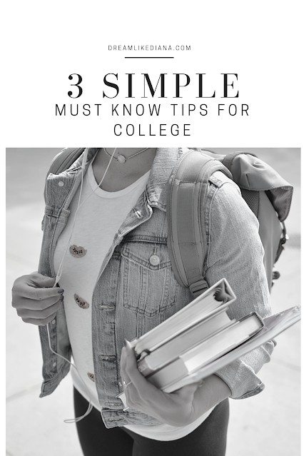 3 simple must know tips for college pinterest pin made in canva