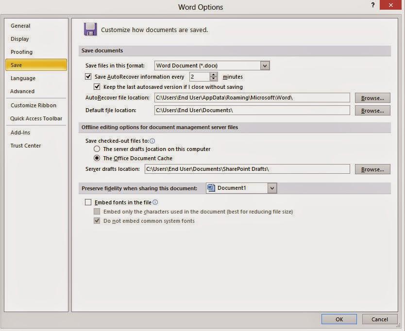 Cara Cara Backup Dan Autosave Dokumen Di Microsoft Word