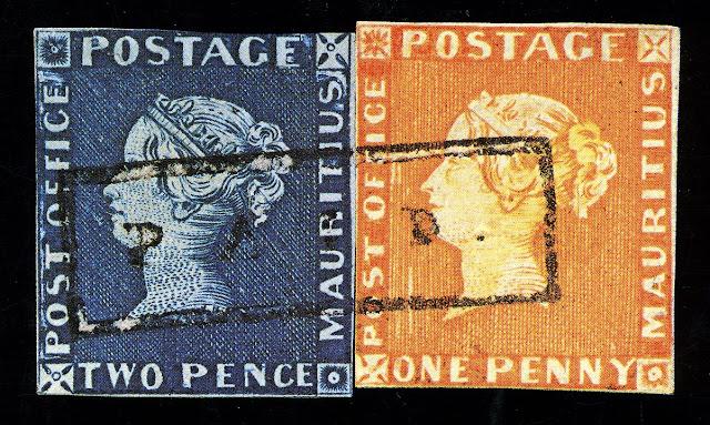 Sello Postal de la Oficina de Correos de Mauricio, 1847