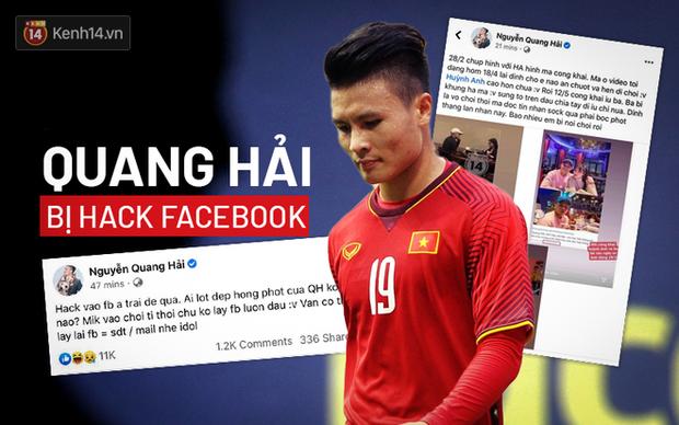 Facebook Quang Hải bị hack