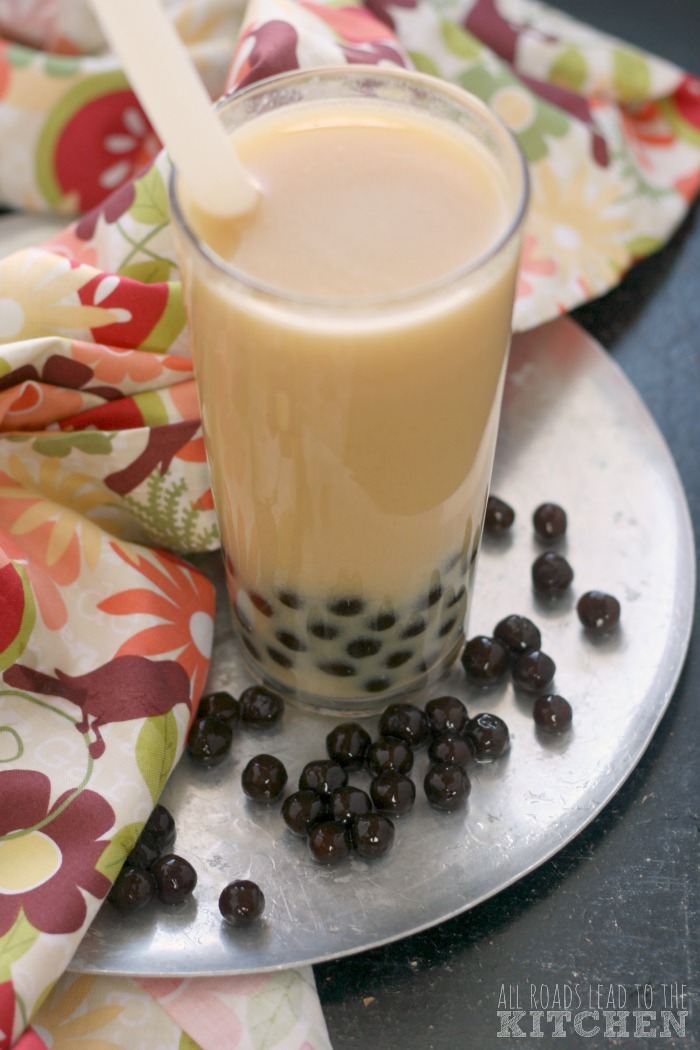 Ginger Peach Milk Tea (Bubble Tea) | #Nyanuary