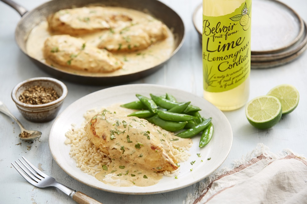 Chicken with Lime And Lemongrass Sauce