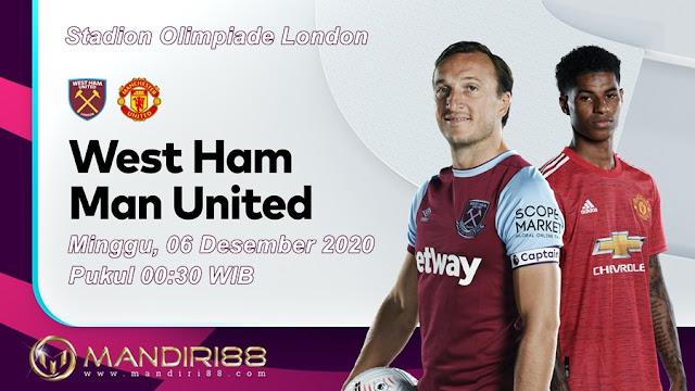Prediksi West Ham United Vs Manchester United, Minggu 06 Desember 2020 Pukul 00.30 WIB @ Mola TV