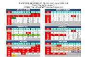 Kalender Pendidikan TK, SD, SMP, SMA, SMK, SLB Provinsi Jawa Barat Tahun Pelajaran 2020/2021