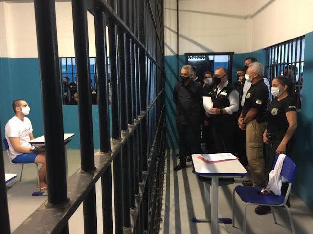 Ministro da Justiça e Segurança Pública visita Penitenciária de Alcaçuz