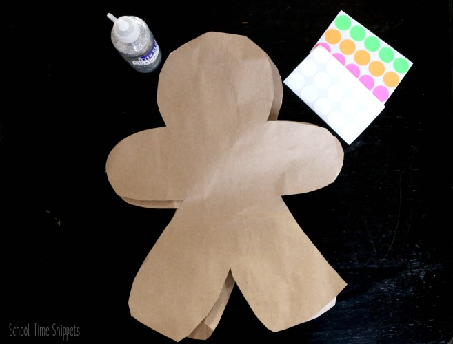jumbo diy gingerbread man craft