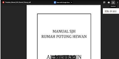 SJH RPH (Sistem Jaminan Halal Rumah Potong Hewan)