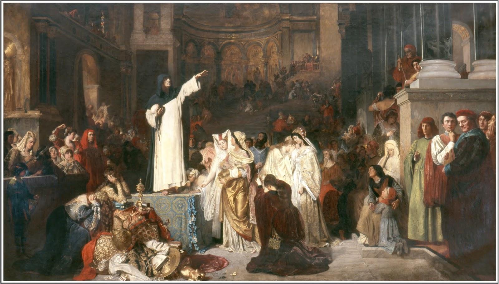 5850a6e67317 Ludwig von Langenmantel (1854-1922), Savonarole Prêchant contre la  Prodigalité - 1879
