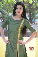 Akshitha cute beauty in Green Salwar at Satya Gang Movie Audio Success meet ~  Exclusive Galleries 041.jpg