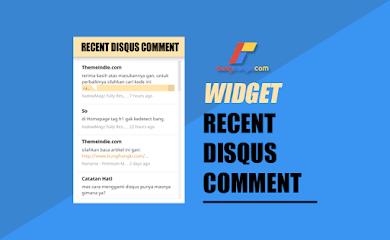 Cara Memasang Disqus Recent Comment di Blogger