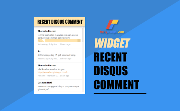 Cara Memasang Disqus Recent Comment di Blogger