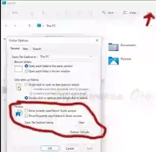 Remove, Hide, delete,clear recent files from Quick access and file Explorer in Windows 11 [Guide]