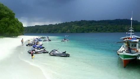 obyek wisata tanjung lesung beach