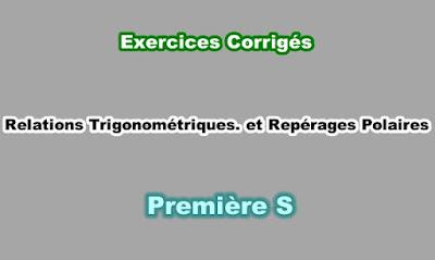 Exercices Corrigés Angles Orientés et Repérage Polaire Première S PDF