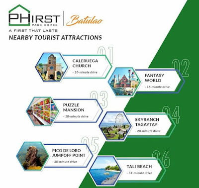 Phirst Park Homes Batulao nearby tourist attraction