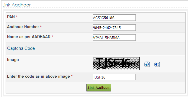 how to link pan card with aadhar in hindi