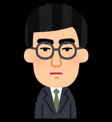 中島敦の似顔絵イラスト