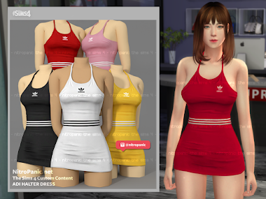 Adi Halter Dress for The Sims 4