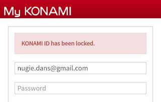 Konami ID has Ben Locked