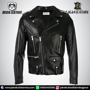 Jual Jaket Kulit Asli Garut Pria Domba Original Brida Leather B46 Ramones   WA 08813430588