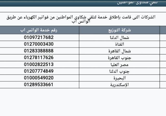 وزارة الكهرباء تخصص ارقام لشكاوي الكهرباء على الواتساب والايميل وموقع منظومة الشكاوي الموحد
