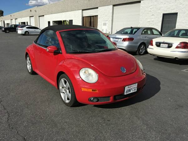 2006 New Beetle Red And Black Top Convertible