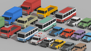 Low Poly Cars Cartoon Vehicles