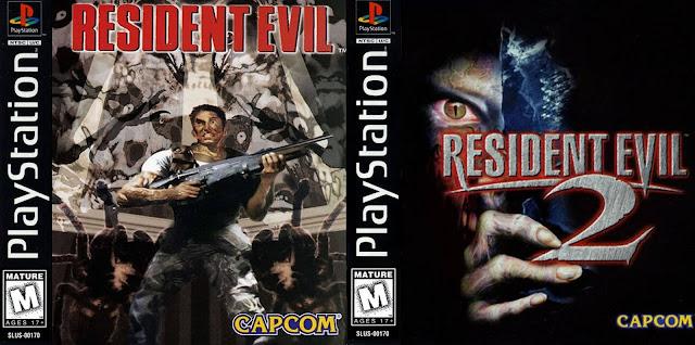 Capa dos jogos Resident Evil 1 e Resident Evil 2