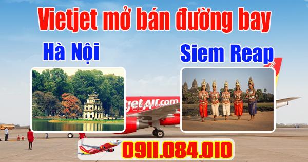 Vietjet khai trương đường bay Hà Nội-Siem Reap