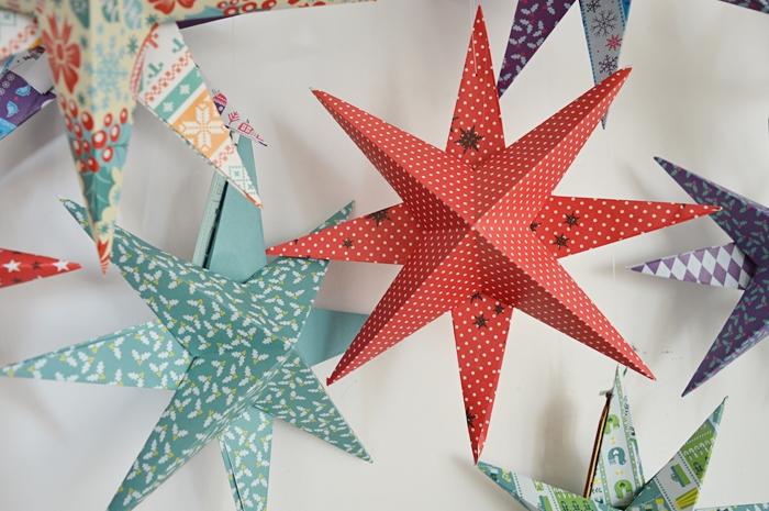 jak zrobić papierową gwiazdę, gwiazda z papieru, diy, papierowe dekoracje, tanie bożonarodzeniowe dekracje