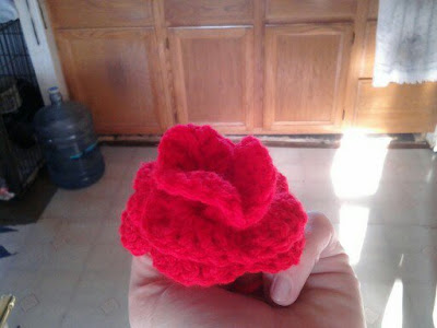 crochet, rose, roll and sew, 3D