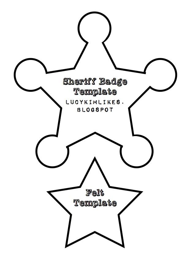 Sheriff woody badge car interior design for Police badge template for preschool