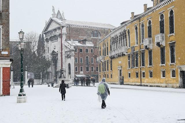 Cidade de Veneza no inverno