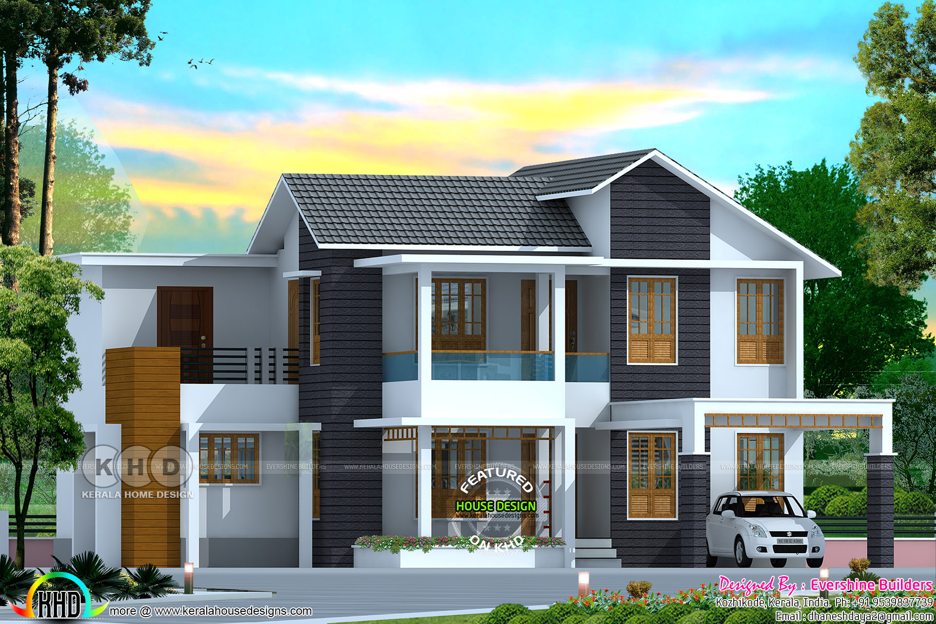 Amazing 4 Bedroom Mixed Roof Home Part - 7: No. Of Bedrooms : 4. Design Style : Mix Roof. Facilities Of This House.  Read More » Please Follow Kerala Home Design