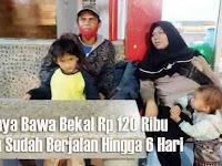 Setiap hari berjalan 30km Satu Keluarga Mudik Jalan Kaki 278km Gombong-Bandung Baru Sampai Ciamis