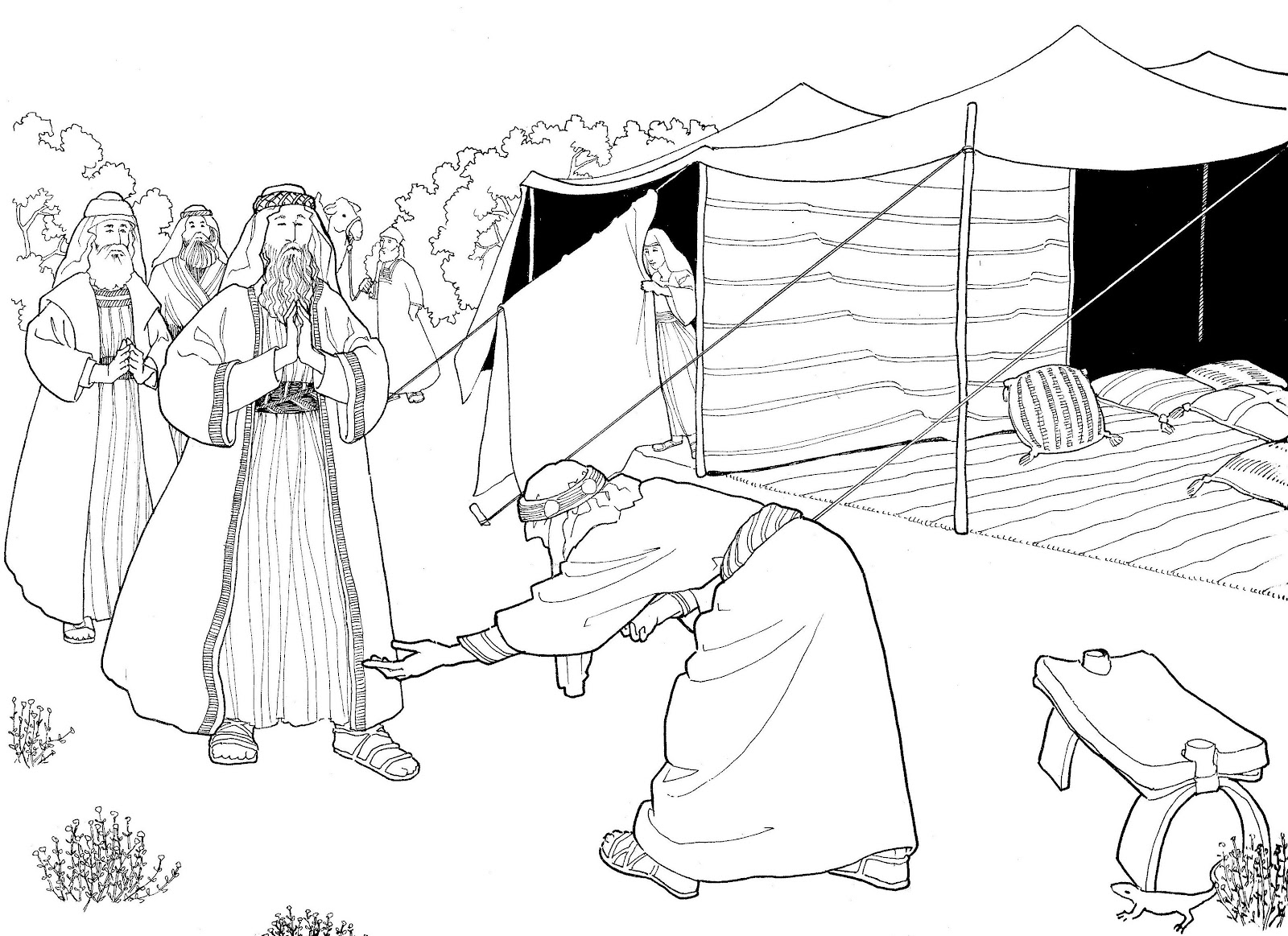 Make a joyful color: Abraham greets his heavenly visitors