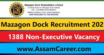 Mazagon Dock Recruitment 2021 – 1388 Non-Executive Vacancy, Apply Online