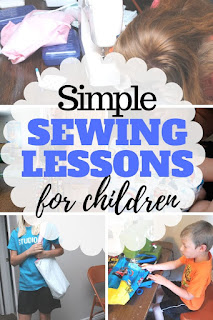 Teach your young child or teen to sew with these simple sewing lessons for kids that include lessons and project ideas.