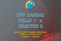 RPP Daring Kelas 1-6 Semester 2