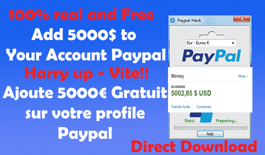 Paypal Money Hack | Add 5000$ in your account now - ajoute